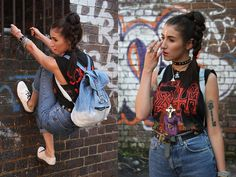 9crowstreet Vintage Backpack Hand Dyed, Dr. Martens White Pantent Dr Martens, High Waisted Jeans, Vintage Death T Shirt
