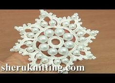 [Video Tutorial] How To Make A Large Crochet Snowflake Ornament With Beads