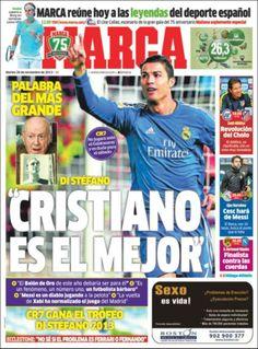 Los Titulares y Portadas de Noticias Destacadas Españolas del 26 de Noviembre de 2013 del Diario Marca ¿Que le pareció esta Portada de este Diario Español?