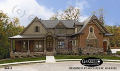 Bellevue House Plan # 06112, Front Elevation, Craftsman Style House Plans, Mountain Style House Plans