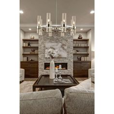 Built In Around Fireplace, Fireplace Built Ins, Home Fireplace, Fireplace Remodel, Living Room With Fireplace, Living Room Grey, Home Living Room, Living Room Designs, Living Room Decor