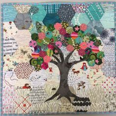 So pretty. What great potential for using a variety of fabrics. Hexi tree quilt