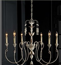 French Wire Chandelier