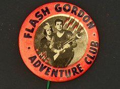 Campaign Pin Pinback Button Political Badge Election Flash Gordon Advertising |
