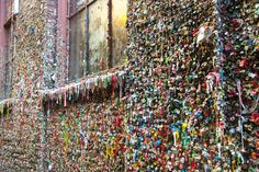 The Gum Wall at Pike Place Market: Love it or hate it, it qualifies as wacky. (©Stacy Booth)