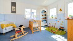 Kinderzimmer Dino blau-weiß