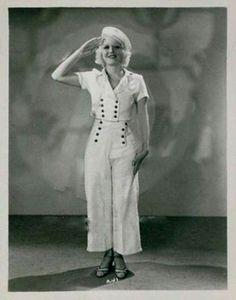 Marion Martin 1930s sailor style suit pants shirt buttons nautical white