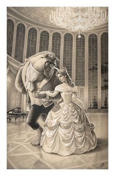 Edson Campos A Dance with Beauty Premiere Edition From Beauty and the Beast Giclee On Paper
