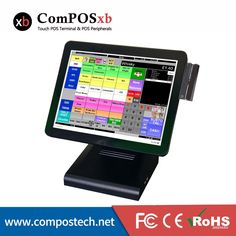 15 inch TFT LCD Point Of Sale Cash Registers With MSR / Pos Computer Systems POS1619 #Affiliate