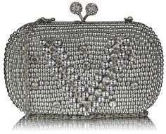 Srebrna torebka wizytowa w stylu Vintage srebrny | Sklep internetowy Evangarda.pl