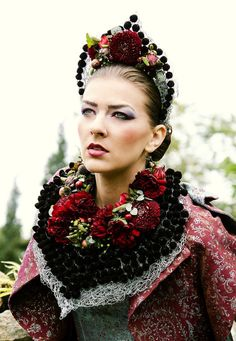 Florists Andreea Stör and Rosa Valls, fashion Rozalia Bot and Natalia Vasiliev, models Euromodels, hair style Ego Studio Cluj, Make Up Andrada Rusu D Flowers, Blooming Flowers, Floral Fashion, Colorful Fashion, Design Floral, Rave Costumes, Flower Show, Traditional Dresses, Decoration