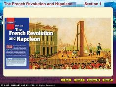 The French Revolution and NapoleonSection The French Revolution and NapoleonSection 1 Main Idea Problems in French society led to a revolution, the. Main Idea, French Revolution, Project Ideas, Maine, Audio, Led, History, Reading, Historia
