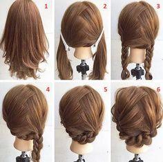 In vogue Braid Hairstyle Tutorial Step by Step