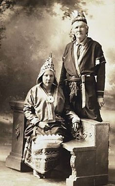 Annie Gloade, Jeremiah Lone Cloud - Mi'kmaq - circa 1927