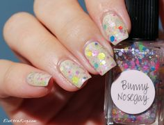Lynnderella Bunny Nosegay over OPI You're So Vain-illa