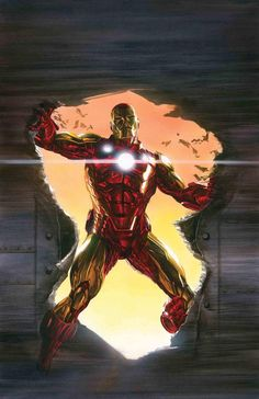 Marvel Comic Book Artwork • Iron Man by Alex Ross. Follow us for more awesome comic art, or check out our online store www.7ate9comics.com