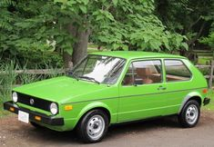 #16: 1977 VW Rabbit: I finally moved away from the air cooled VW's after a fire in a gas heater. For Rabbits 1977 was a good year. We added a roof rack and used it for years while tent camping.