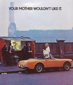 MG Midget Car Print 1973, Advertising Wall Art