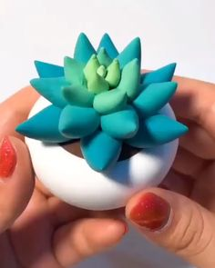 How Cute 😍 DIY Clay Succulent. How Cute 😍,Fimo For how-to's, tips and tricks, and inspiration on all things succulents. check out our website for some helpful articles to encourage you to be the best succulent gardener! Diy Crafts Hacks, Cute Crafts, Kids Crafts, Diy And Crafts, Arts And Crafts, Paper Crafts, Diy Projects, Diy Crafts Clay, Kids Diy