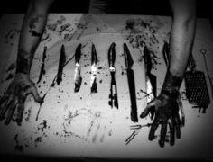 scary death blood Black and White creepy horror kill black hand dark die dead murder insane darkness Macabre knives KNIFE terror killer bloody psycho insanity psychopathic
