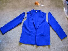 How to alter a blazer. Perfect for refashioning a cheap thrift store blazer into the perfect jacket.