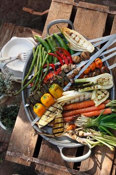 grilled veggies...