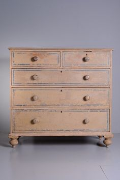 OnlineGalleries.com - Regency Pine Chest of Drawers in Original Paint.very good condition. British. c. 1820