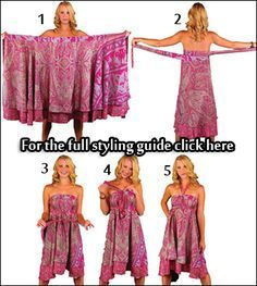 Pink Petals Convertible Wrap Skirt - fix. Vestido Convertible, Convertible Clothing, Tent Dress, Dress Skirt, Sarong Dress, Sarong Wrap, Skirt Outfits, Diy Jupe, Mode Hippie