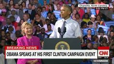 First campaign appearance for @barackobama in support of @hillaryclinton
