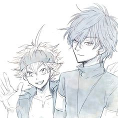 Yuno and Asta Clover 3, Black Clover Manga, Kagerou Project, Japanese Cartoon, Black Cover, Blue Exorcist, Symbolic Tattoos, Anime Ships, Bungou Stray Dogs
