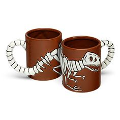 Mug that looks like a T. rex fossil. Rawr! From Think Geek