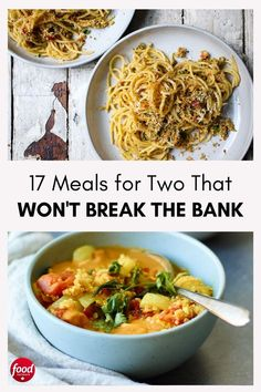 Whipping up a well-balanced meal to impress your partner doesn't have to put a dent in your wallet. Check out these 17 budget-friendly meal ideas. Vegetable Pasta, Vegetable Curry, Rice And Bean Burrito, Slow Cooker Recipes, Cooking Recipes, Goat Cheese Pasta, Chicken Wings Spicy, Sheet Pan Suppers, Food Network Canada