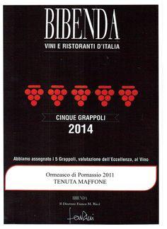 "VINO LIGURE ANTICO WINE ITALIAN RARE: TENUTA MAFFONE ORMEASCO DA"" 5 GRAPPOLI BIBENDA"""