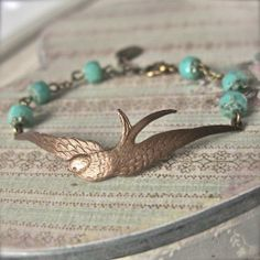 Soaring Bird Bracelet in turquoise - £18.00 from Jolly Molly