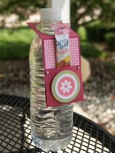 Another cute water bottle idea.  Teacher appreciation? Secret pal?