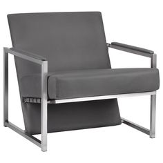 Atelier - Tribeca - Bonded leather lounge chair with metal legs/LOUNGE CHAIRS/SEATING/SHOP BY PRODUCT/ATELIER BOUCLAIR|Bouclair.com