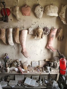 "Photographer: ""Saint Roch Shrine, New Orleans where people would leave replicas of the body parts that they believed Saint Roch had cured...not sure if it is still in use. What a strange, strange place."""