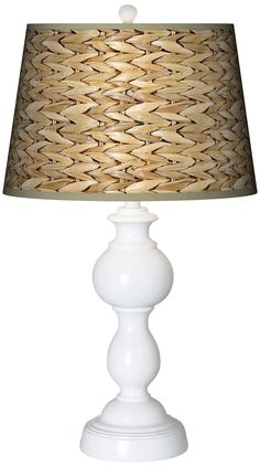 Seagrass Giclee Sutton Table Lamp - (I like the shade, not the lamp)