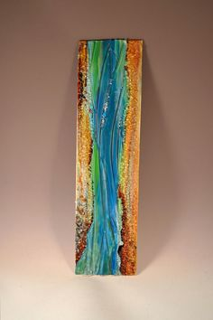 Renovatus Modern Fused Glass Wall Hanging Art with by Krenzin11