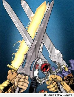 Cartoon Swords from 80s Cartoons