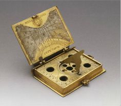 Book shaped Sundial, 16th century. Brass. Germany. Palazzo Strozzi, Firenze, Exhbiition Galileo, 2009. Source