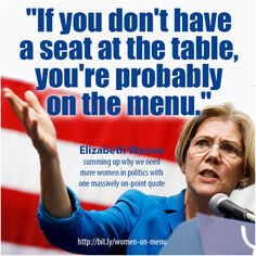 Elizabeth Warren, a very good analogy