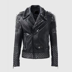 Looking for Mens Brando Motorbike Rock Punk Spike Studded Motorcycle Black Biker Leather Jacket ? Check out our picks for the Mens Brando Motorbike Rock Punk Spike Studded Motorcycle Black Biker Leather Jacket from the popular stores - all in one. Spiked Leather Jacket, Studded Jacket, Biker Leather, Black Leather, Cowhide Leather, Real Leather, Cow Leather, Black Man Style, Style Men