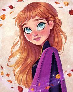 Entre o espaço e tempo: As ilustrações incríveis de Ana Paula Azevedo Disney Princess Cartoons, Disney Princess Drawings, Disney Princess Art, Disney Drawings, Art Drawings Sketches, Cute Drawings, Disney Princesses, Cartoon Girl Drawing, Cartoon Drawings