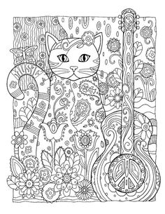 Creative Cats Coloring Book Dover Publications por iluvdesign