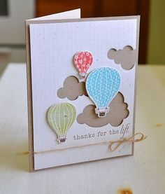 Papertrey Ink stamps has just released nine fun new clear stamp sets with themes like hot air balloons (which are *really* popular right now!), thanks, lilly of the valley, frames, home made, arrow…