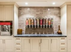 cute snack bar idea for a home theater