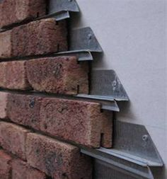 Greenway brick cladding is ideal for a lightweight external brick veneer. The brick cladding system requires no adhesive, just add mortar after installation. Brick Cladding, Wall Cladding, Brickwork, Brick Facade, Brick Siding, Shingle Siding, Stone Facade, Brick Walls, Detail Architecture