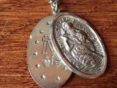 Saint Christopher Protect Us Vintage & by CherishedSaints on Etsy