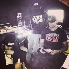 In the studio working on the new mixtape Dutch Hustlaz Team working hard  #dutchhustlaz #studio #music #making #love